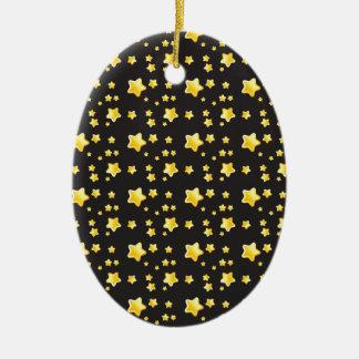 Dark night sky with stars pattern christmas tree ornaments