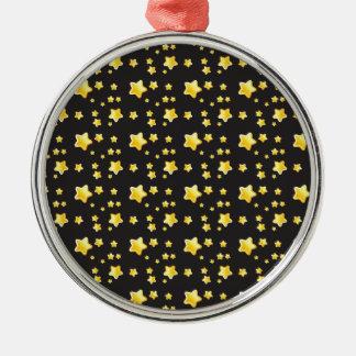 Dark night sky with stars pattern christmas ornament