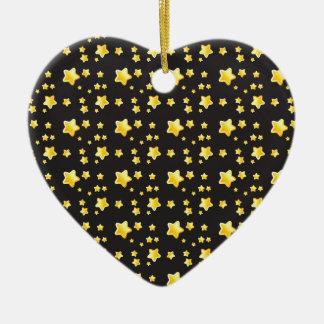 Dark night sky with stars pattern christmas tree ornament