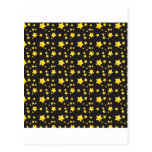 Dark night sky with stars pattern postcard