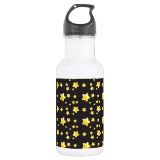 Dark night sky with stars pattern stainless steel water bottle
