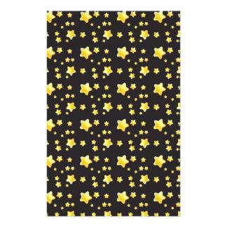 Dark night sky with stars pattern customized stationery