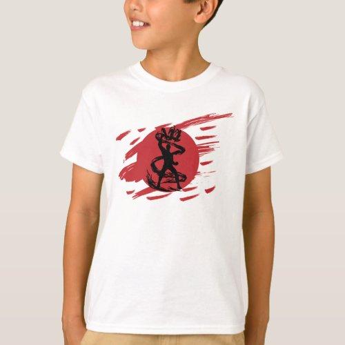 Dark Ninja Shadow Sword Fantasy Silhouette T_Shirt