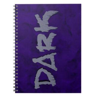 DARK note pad Spiral Notebooks