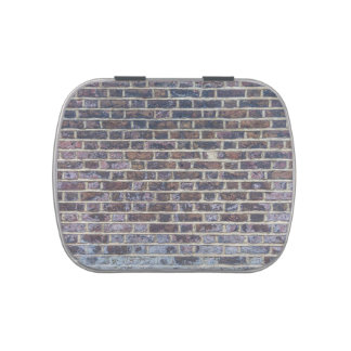 Dark old brick wall texture candy tin