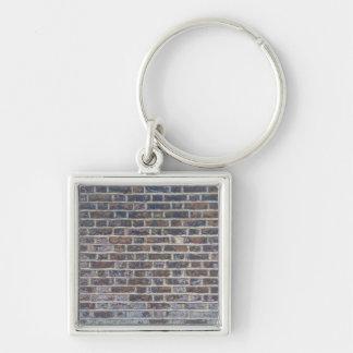 Dark old brick wall texture keychain