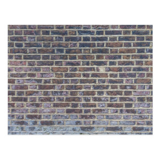 Dark old brick wall texture postcard