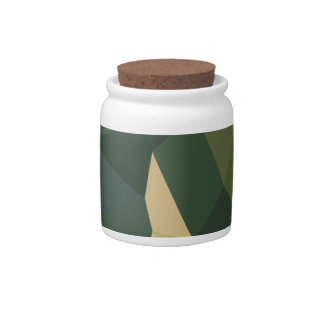 Dark Olive Green Abstract Low Polygon Background Candy Jar