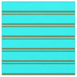 [ Thumbnail: Dark Olive Green and Aqua Striped/Lined Pattern Fabric ]