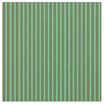 [ Thumbnail: Dark Olive Green and Aquamarine Lines Pattern Fabric ]