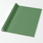 [ Thumbnail: Dark Olive Green and Aquamarine Lines Pattern Wrapping Paper ]
