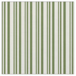 [ Thumbnail: Dark Olive Green and Beige Colored Pattern Fabric ]
