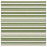 [ Thumbnail: Dark Olive Green and Bisque Colored Pattern Fabric ]