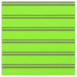 [ Thumbnail: Dark Olive Green and Chartreuse Colored Lines Fabric ]