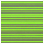 [ Thumbnail: Dark Olive Green and Chartreuse Colored Pattern Fabric ]