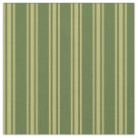 [ Thumbnail: Dark Olive Green and Dark Khaki Striped Pattern Fabric ]
