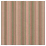 [ Thumbnail: Dark Olive Green and Light Coral Lines Fabric ]