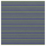 [ Thumbnail: Dark Olive Green and Midnight Blue Colored Lines Fabric ]