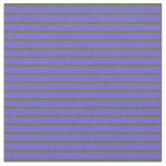 [ Thumbnail: Dark Olive Green and Slate Blue Colored Stripes Fabric ]