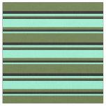 [ Thumbnail: Dark Olive Green, Aquamarine, and Black Colored Fabric ]