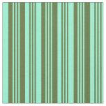 [ Thumbnail: Dark Olive Green & Aquamarine Colored Pattern Fabric ]