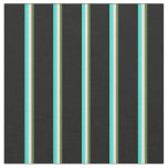[ Thumbnail: Dark Olive Green, Beige, Turquoise, and Black Fabric ]