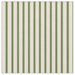 [ Thumbnail: Dark Olive Green & Bisque Colored Pattern Fabric ]