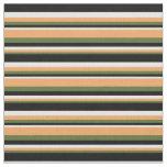 [ Thumbnail: Dark Olive Green, Brown, White & Black Pattern Fabric ]