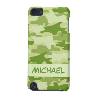 Dark Olive Green Camo Camouflage Name Personalized iPod Touch 5G Cover