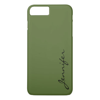 Dark olive green color background iPhone 7 plus case