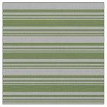 [ Thumbnail: Dark Olive Green & Dark Gray Colored Lines Fabric ]