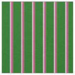 [ Thumbnail: Dark Olive Green, Deep Pink, Grey & Dark Green Fabric ]