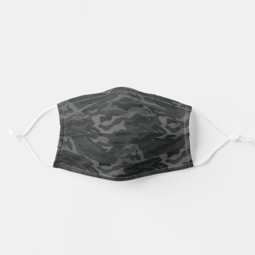 Dark Olive Green  Gray Camo Pattern Cloth Face Mask