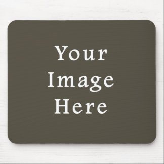 Dark Olive Green Green Color Trend Blank Template Mouse Pad