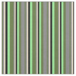 [ Thumbnail: Dark Olive Green, Grey, Tan, Black & Light Green Fabric ]