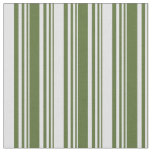 [ Thumbnail: Dark Olive Green & Lavender Striped/Lined Pattern Fabric ]