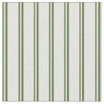 [ Thumbnail: Dark Olive Green & Light Cyan Lined Pattern Fabric ]