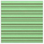 [ Thumbnail: Dark Olive Green & Light Green Pattern Fabric ]