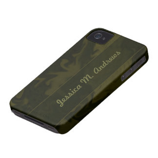Dark Olive Green Marblized iPhone 4 Cover