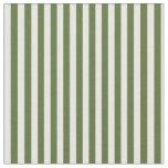 [ Thumbnail: Dark Olive Green & Mint Cream Pattern Fabric ]