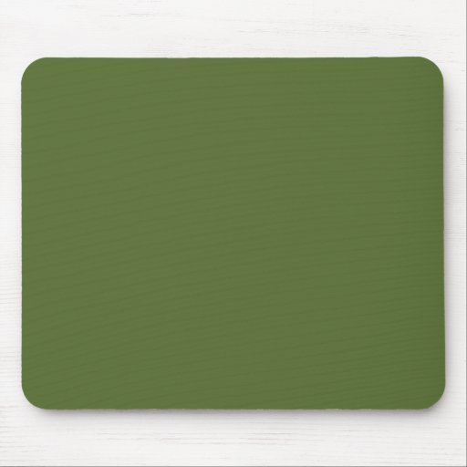 Dark Olive Green Mouse Pad