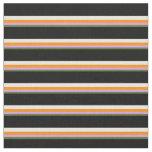 [ Thumbnail: Dark Olive Green, Plum, Dark Orange, White & Black Fabric ]