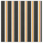 [ Thumbnail: Dark Olive Green, Plum, Orange, White & Black Fabric ]