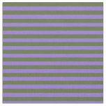 [ Thumbnail: Dark Olive Green & Purple Colored Pattern Fabric ]
