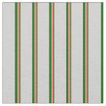 [ Thumbnail: Dark Olive Green, Salmon, Dark Green & Light Gray Fabric ]