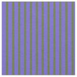 [ Thumbnail: Dark Olive Green & Slate Blue Pattern Fabric ]
