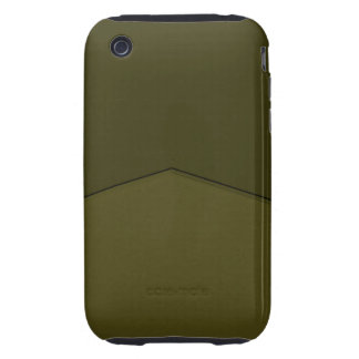 Dark olive green texture point tough iPhone 3 cover