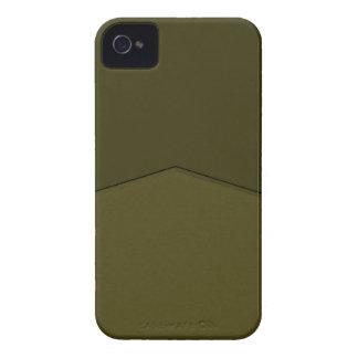 Dark olive green texture point iPhone 4 case