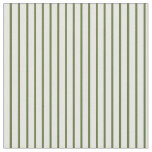 [ Thumbnail: Dark Olive Green & White Colored Pattern Fabric ]