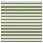 [ Thumbnail: Dark Olive Green & White Lined/Striped Pattern Fabric ]